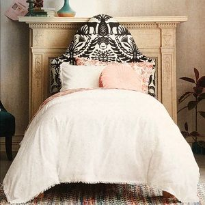 Garment Washed Embroidered Duvet Cover Set TWIN XL